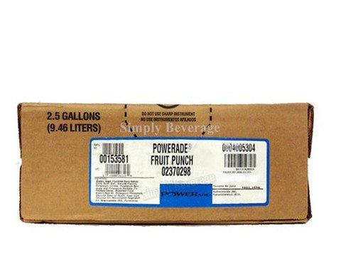 Powerade Fruit Punch Syrup 2.5 Gallon Bag in Box BIB Sodastream by Powerade