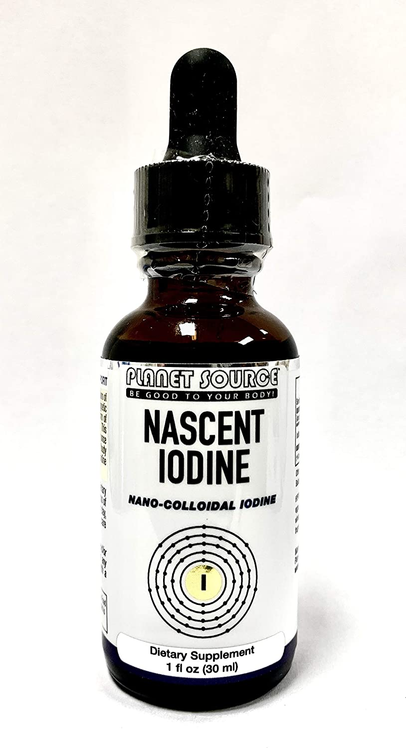 Nascent Iodine Supplement Vegan (Nano-colloidal Iodine) High Potency-Promotes Thyroid -Hormonal & Healthy Weight Support/Just 1 Drop per Day = 600 Servings