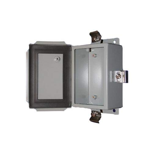 BUD Industries Series SN Steel NEMA 4 Sheet Metal Box with Mounting Bracket, 15-1/2
