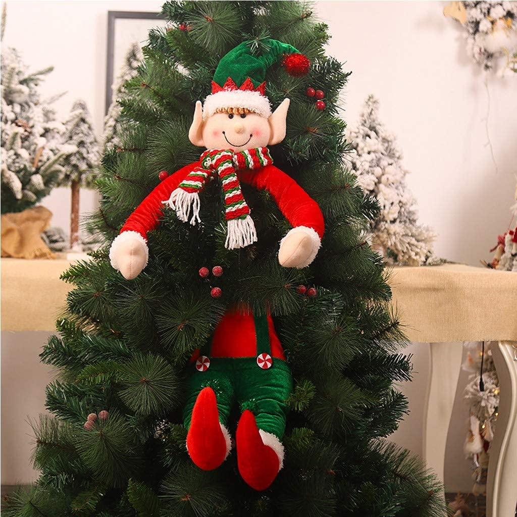 N/A/ Christmas Ornament 2020, Elves Christmas Decorations Home Decor, Split Doll Christmas Hanging Tree Ornament, Xmas/Holiday/Winter Wonderland Party Decoration Supplies
