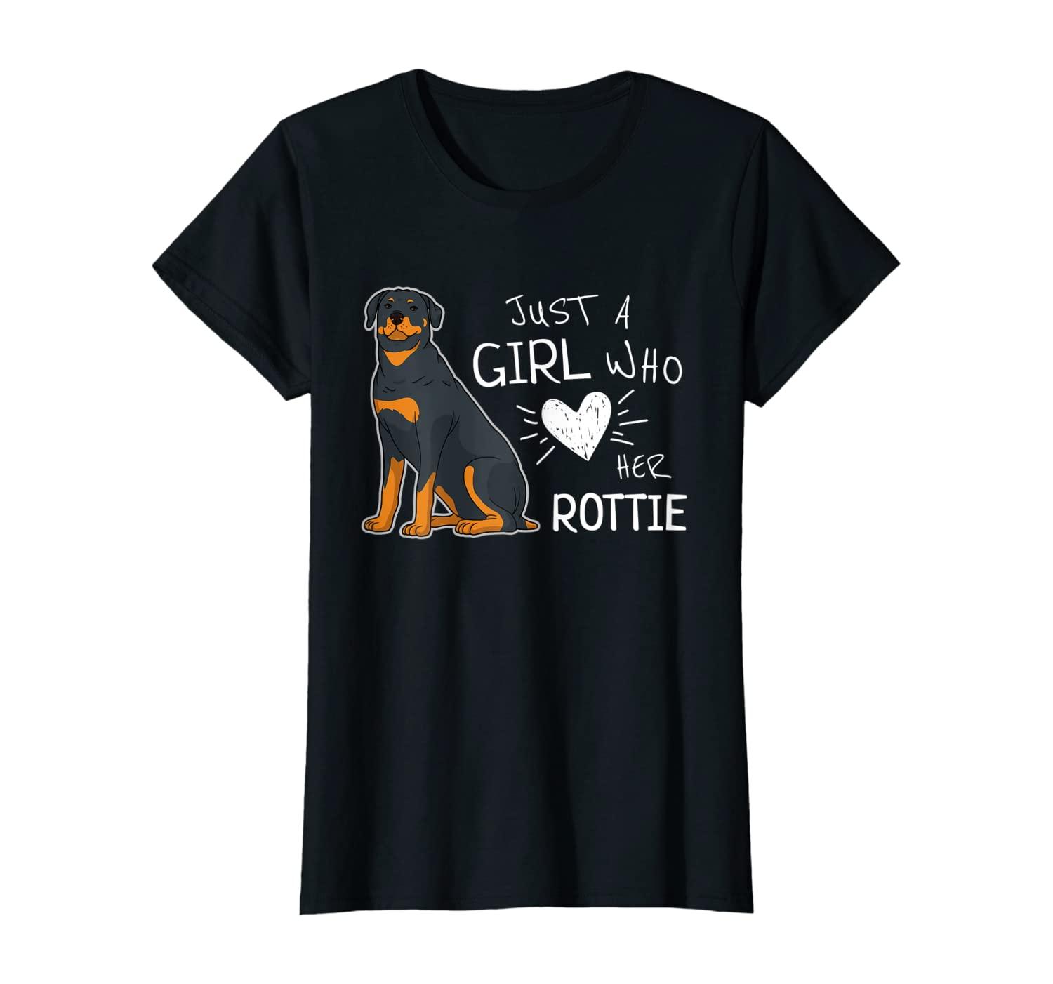 Just A Girl Who Loves Her Rottie Dog T-Shirt