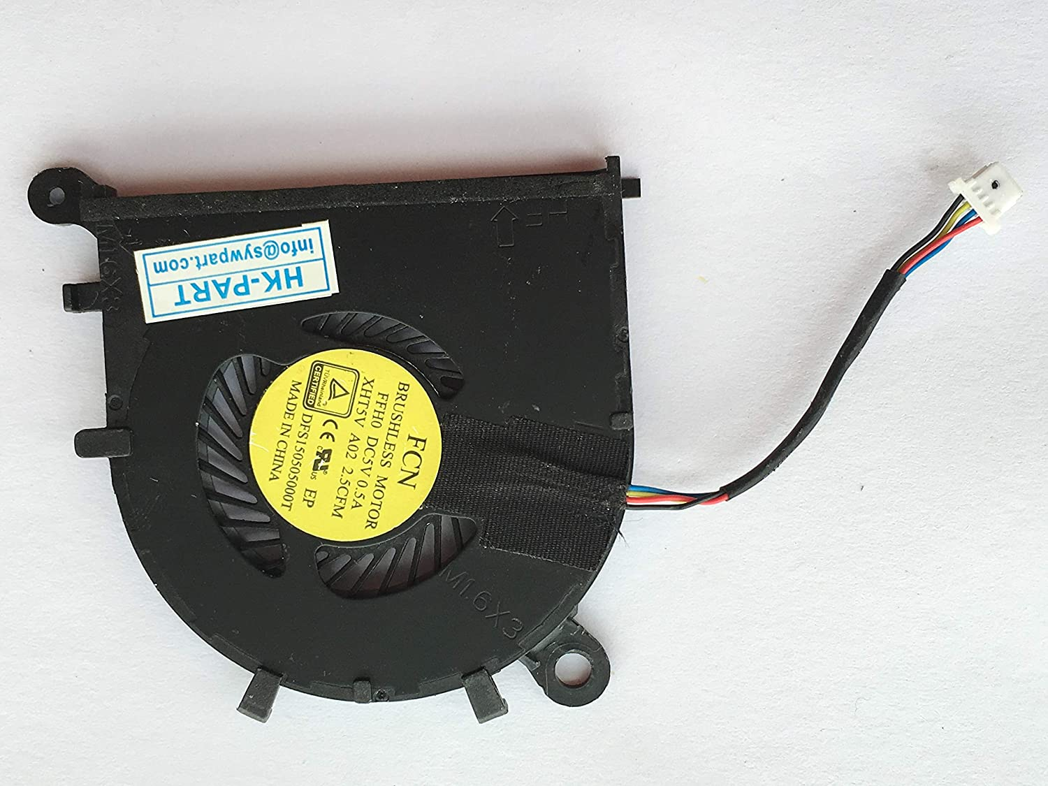 HK-Part Replacement Fan for Dell XPS 13 (9343) (9350) 13-9343 13-9350 CPU Cooling Fan DP/N XHT5V 0XHT5V CN-XHT5V