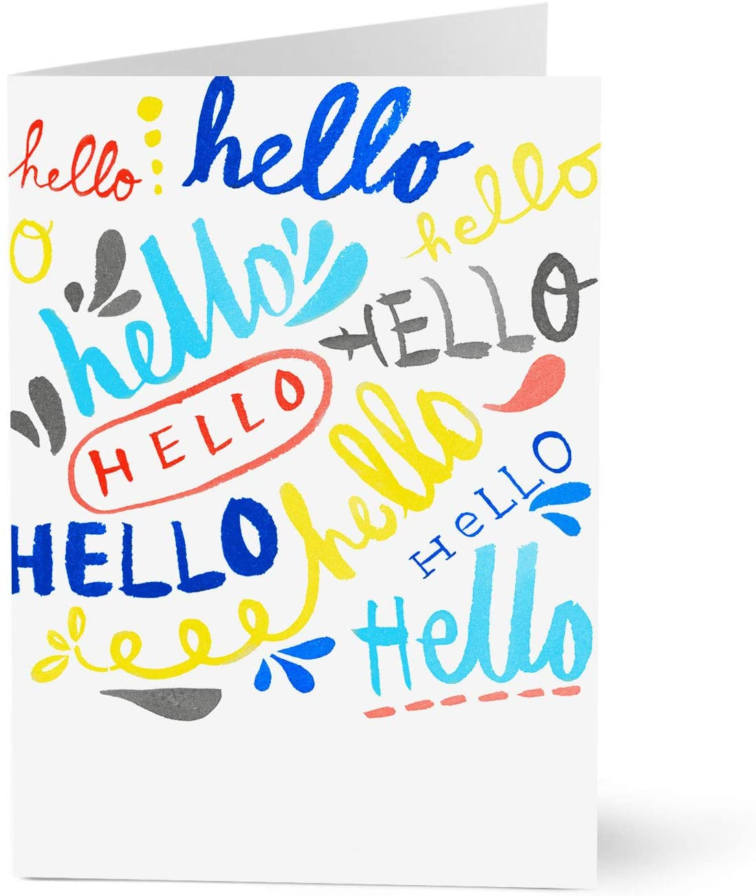 Hallmark Welcome Cards for New Customers (Lettered Hellos) (Pack of 25 Greeting Cards)
