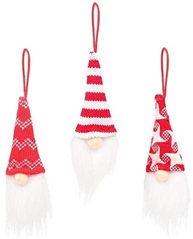 GIRHEWW Christmas Tree Decoration, Christmas Handmade Painted Old Man Snowman Pendant, Christmas Tree Hanging Ornament Home Party Decor Xmas Gift Toy (B)