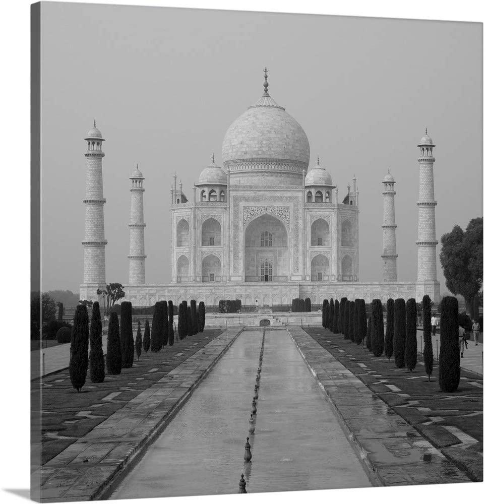 Taj Mahal, Agra, Uttar Pradesh, India Canvas Wall Art Print, 24x24x1.25