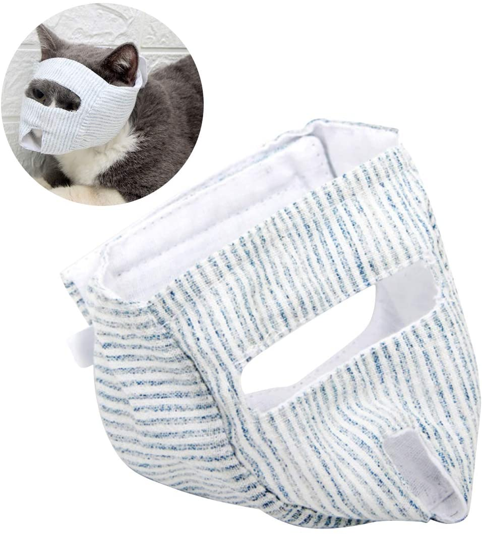 ZUKIBO Cat Grooming Restraint Bags with Muzzle Cat Mask for Cat Cleaning Avoid Being Bitten and Scratched by Cats Pet Groomer Helpers Tools