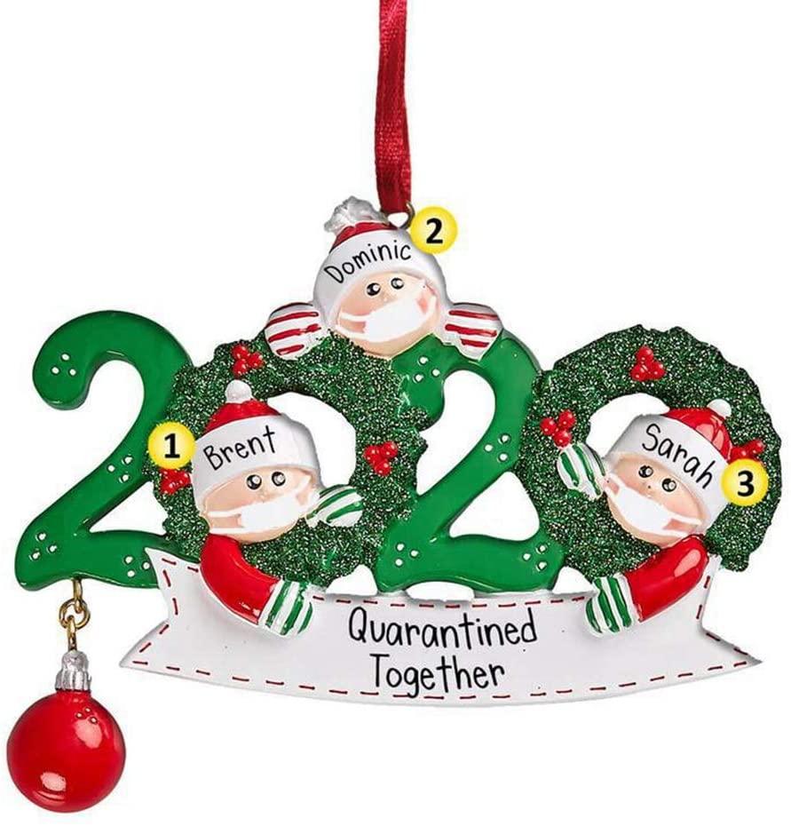 Coolper Party Supplies Family Member Home Decor Car Decoration Xmas Hanging Christmas Tree Decor DIY Xmas Ornament(Family Member of 3)