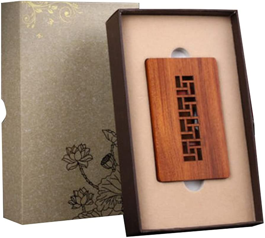Chinese Style Wood Business Card Holder, Great Business Gift #05