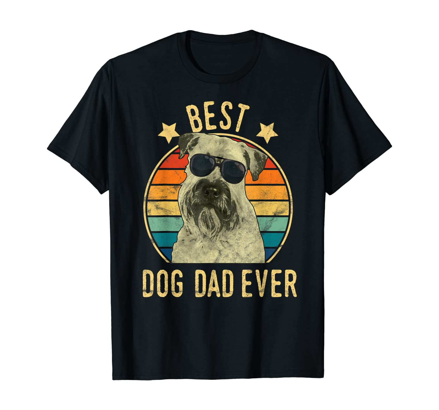 Mens Best Dog Dad Ever Soft Coated Wheaten Terrier Father's Day T-Shirt