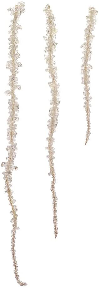 Melrose Set of 3 Glamour Time Clear Beaded Dangling Icicle Drop Christmas Ornaments 23