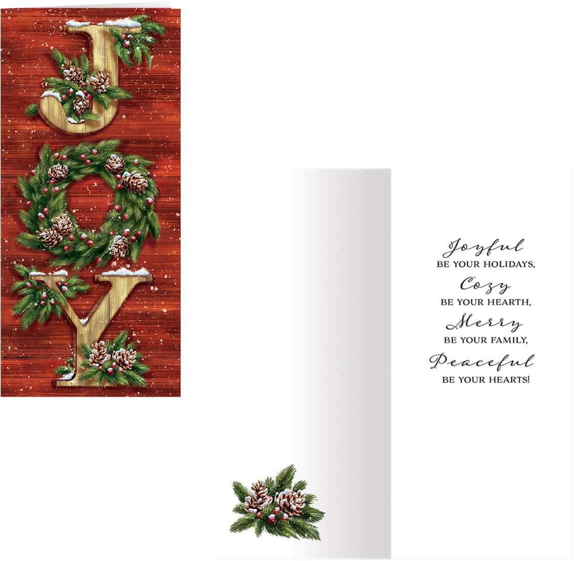 Christmas Joy Christmas Card Set of 20