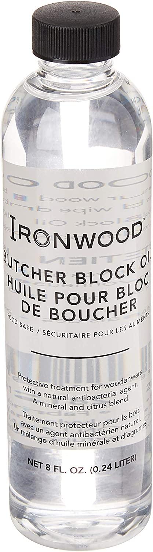 Ironwood Gourmet Butcher Block Cutting board oil, 1.75 x 1.75 x 6.75 inches, Clear