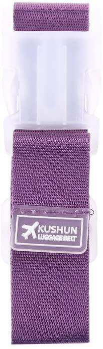 suoryisrty Adjustable Suitcase Bag Travel Luggage Straps Buckle Baggage Tie Down Belt Lock Purple