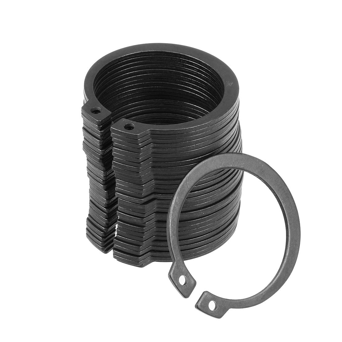 uxcell 41mm External Circlips C-Clip Retaining Shaft Snap Rings 65Mn 30pcs