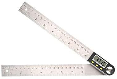 MeterTo Digital Protractor Inclinometer Goniometer, Measuring range: 0-360 Degree, Length: 0-500mm / 19 Inch