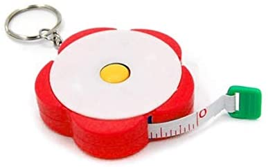 60 inches Tape Measure for Body Measurements Flower Shape Retractable Dual Sided Inch and Centimeter for Sewing Tailor 150cm TPPR02270