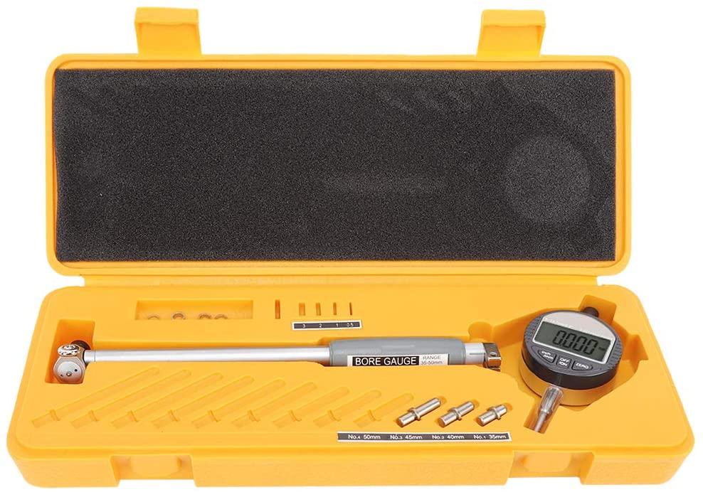 FTVOGUE Digital Dial Bore Gauge Stainless Steel High Accuracy Inner Diameter Measurement Tool 35-50mm