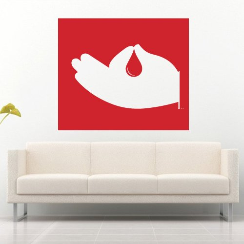 Wall Decal Sticker Vinyl Hand Finger Picture Drop Decoration room decor M695
