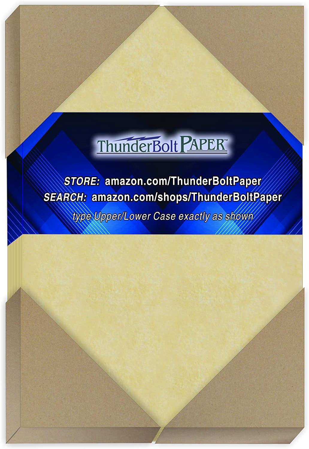 250 Gold Parchment 65lb Cover Weight Paper - 3.5