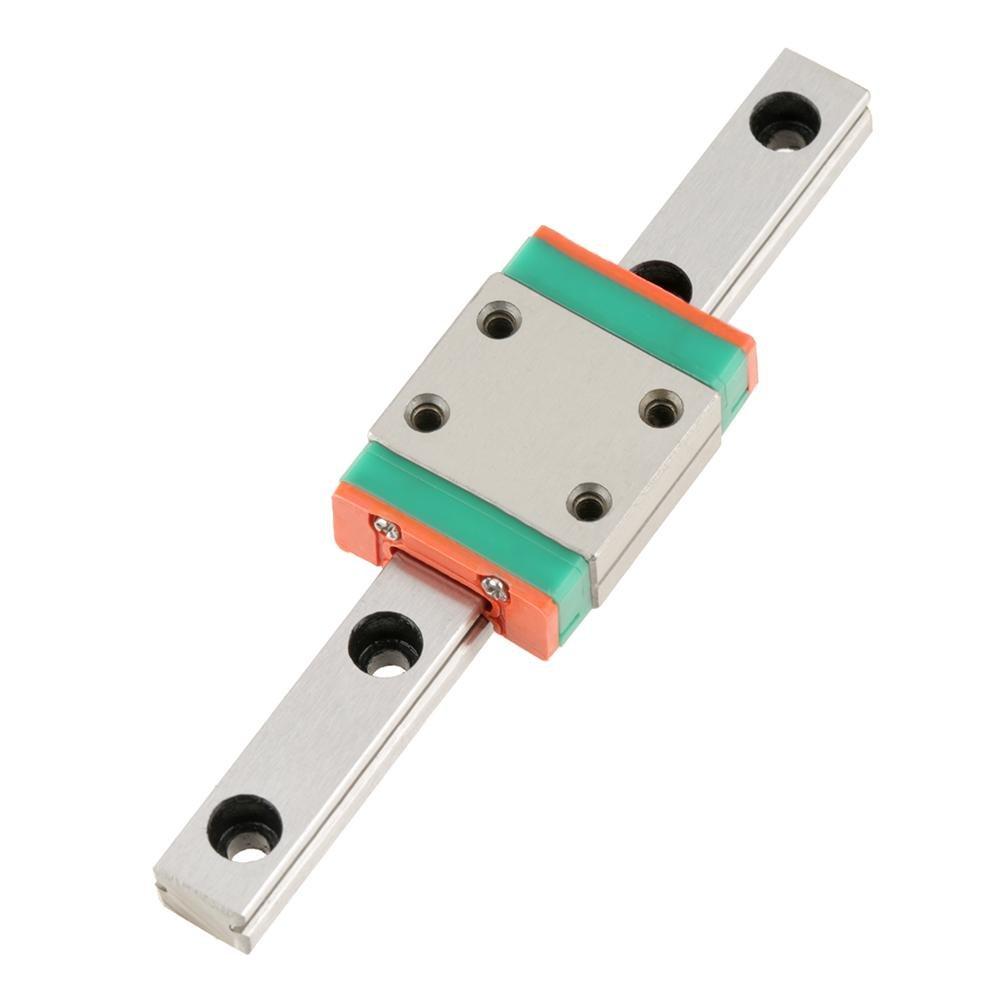 Mini Linear Slide, LWL7B Miniature Bearing Steel Linear Rail Guide Linear Slide Rail 7mm Width with Slide Block (70MM)