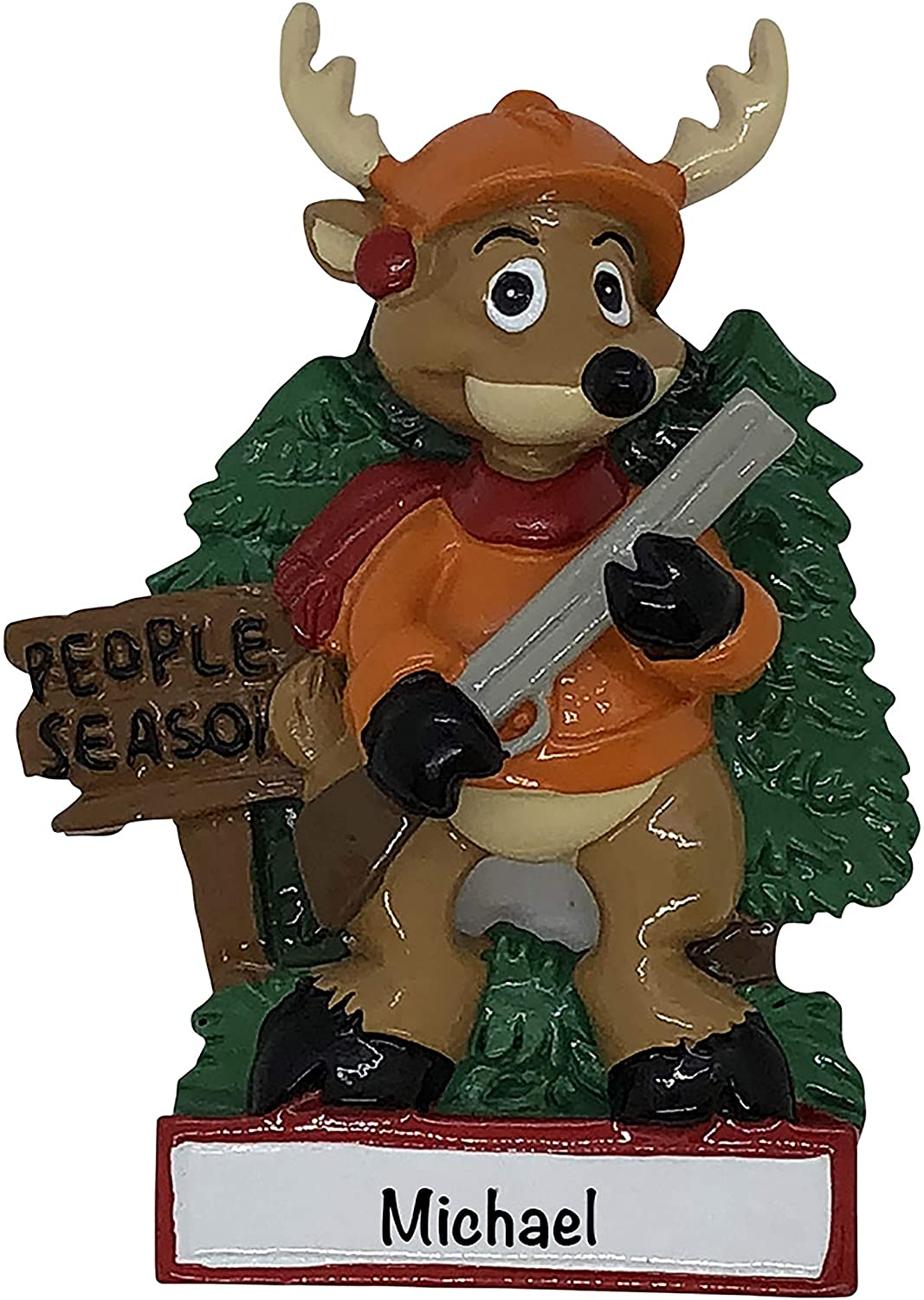 HolidayTraditions Hunting People Season Personalized Ornament - Unique Christmas Tree Ornament - Special Keepsake - Custom Sports Decoration - Personalization Included