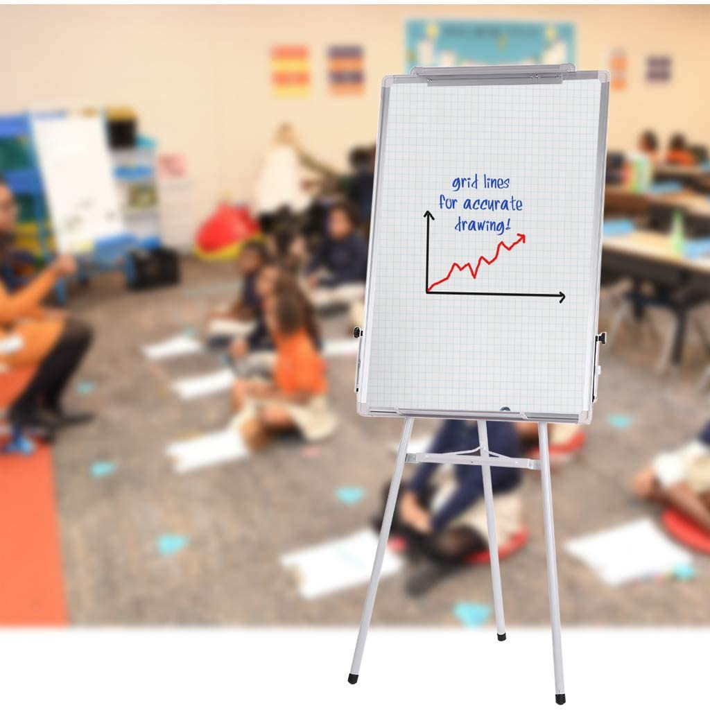 Easel Whiteboard, 36 x 24 Portable Tripod Magnetic Dry Erase Board for Home,Office,Classroom Use, Height Adjustable Flipchart Easel Stand for Kids Adults(Shipped from US)