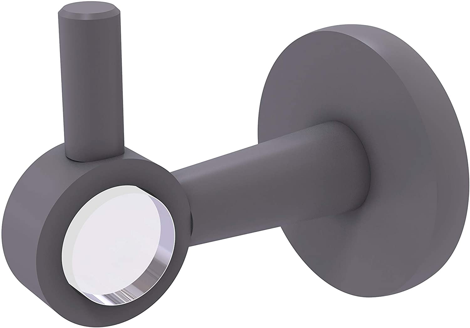 Allied Brass CV-20 Clearview Collection Robe Hook, Matte Gray