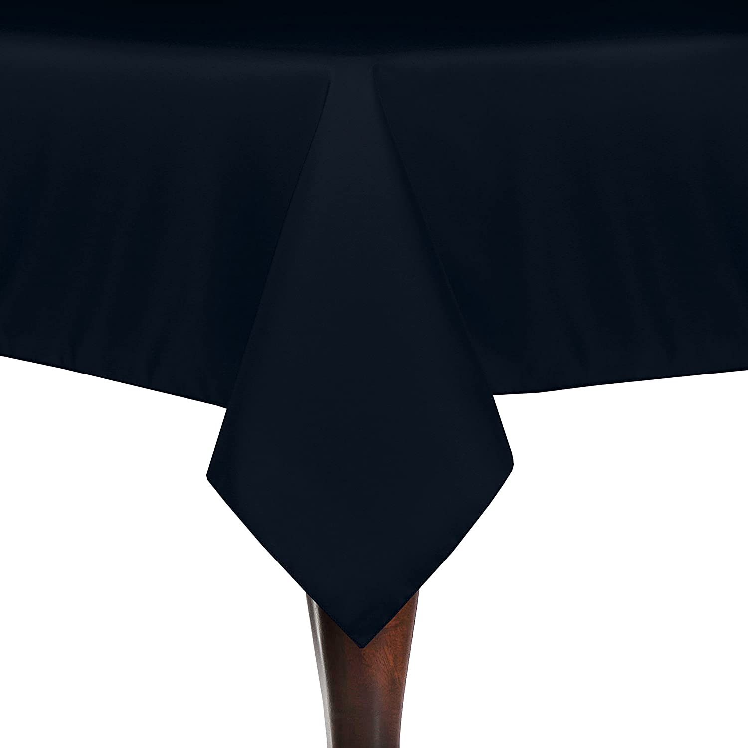 Ultimate Textile -3 Pack- 72 x 108-Inch Rectangular Polyester Linen Tablecloth, Navy Blue