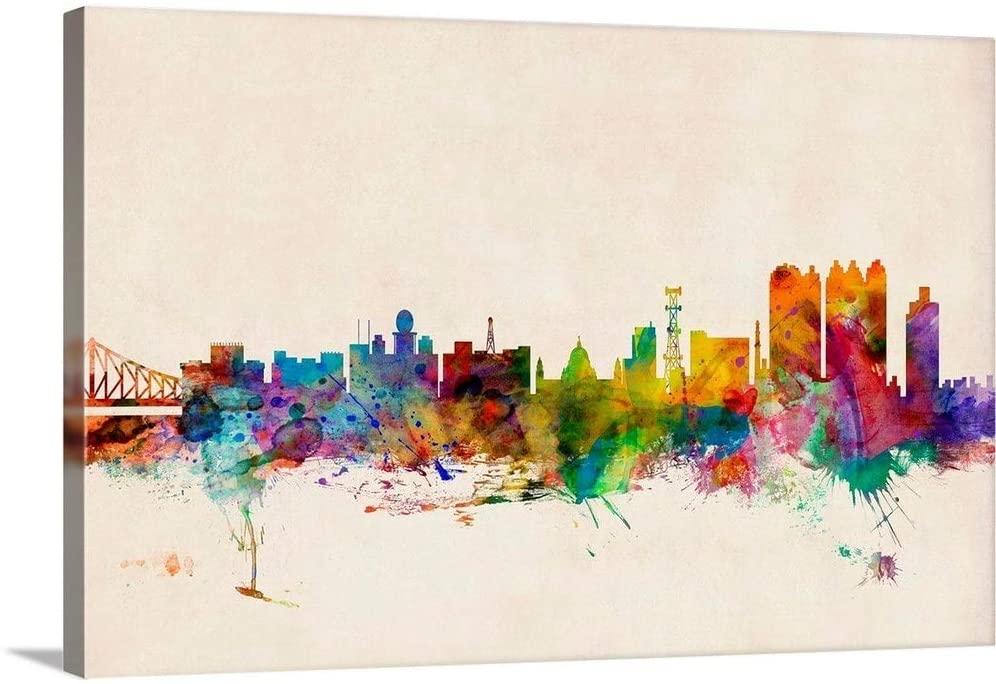 Calcutta (Kolkata) India Skyline Canvas Wall Art Print, 48