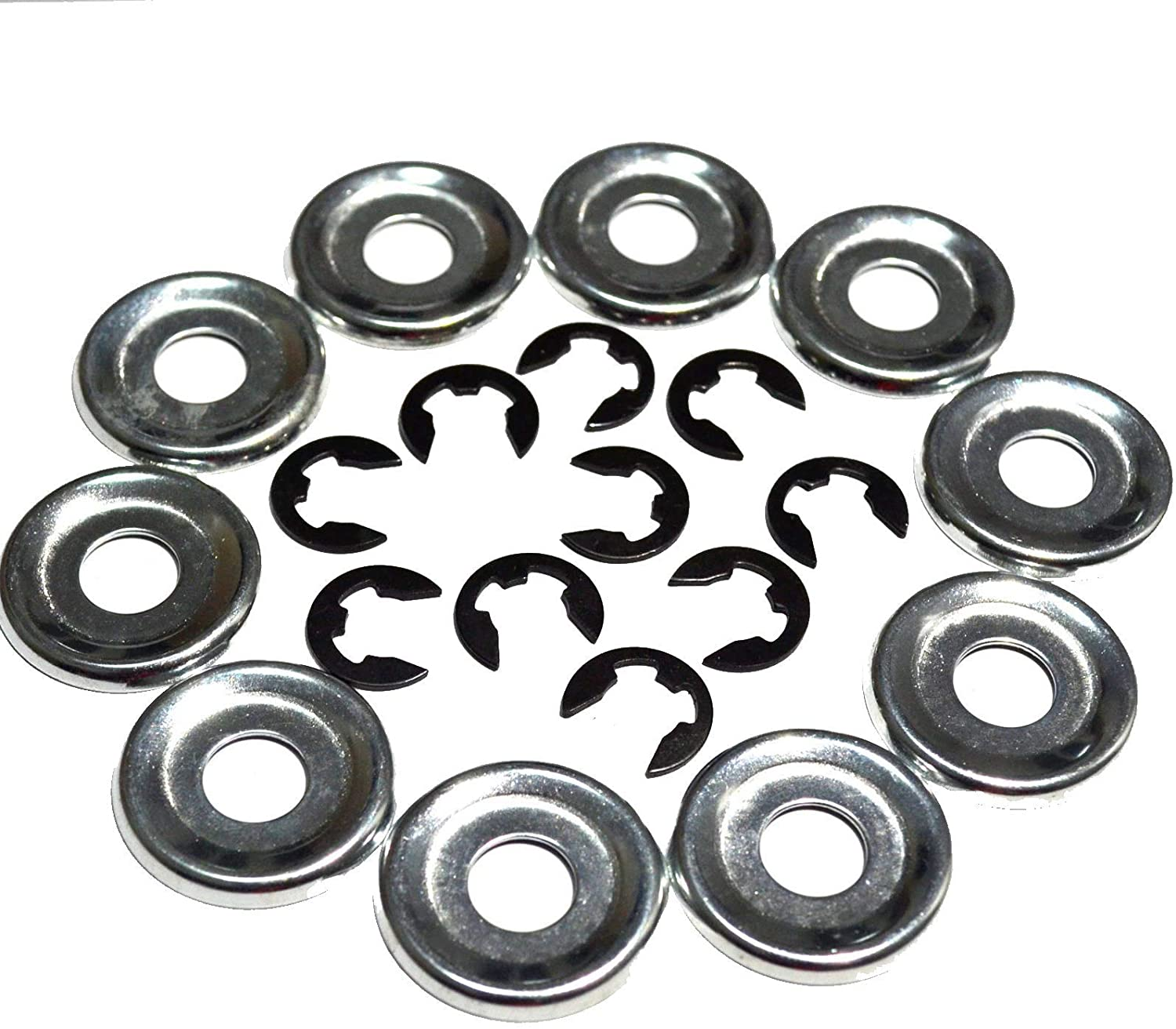 CNLEIFU 10 Sets Clutch Drum Washer E-Clip Kit Fit for Stihl Chainsaw 017 018 021 023 025 MS170 MS180 MS230 MS210 MS250 Replace 9460 624 0801 0000 958 1022
