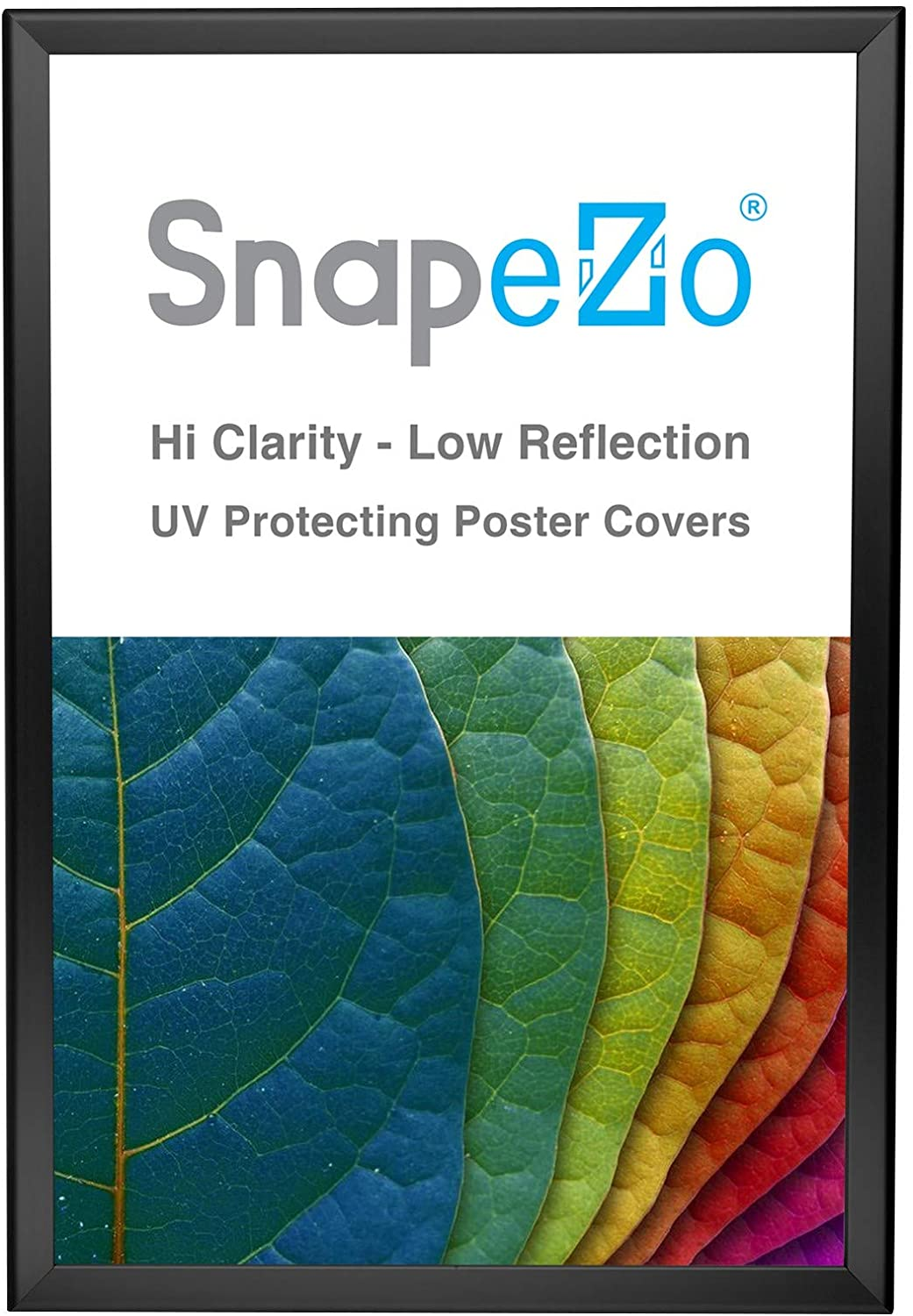 SnapeZo Poster Frame 20x30, Black, 1.25 Inch Aluminum Profile, Front-Loading Snap Frame, Wall Mounting, Professional Series