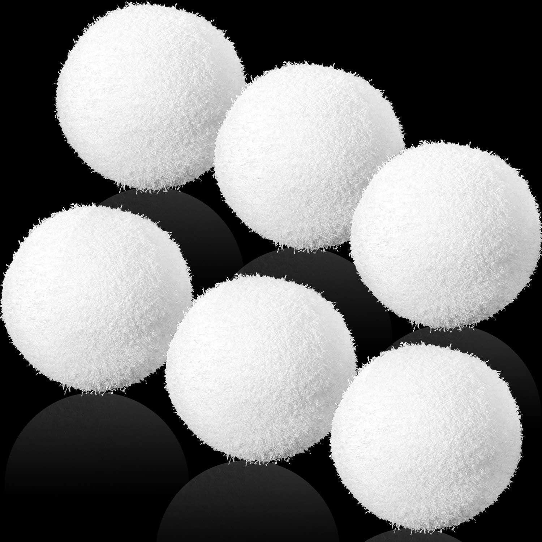 Patelai Scum Eliminating Ball, Reusable Scum Sponge Balls, Swimming Pool Filter Sponge Ball, Washable Oil Absorbing Sponge Ball for Swimming Pools, Bathtubs, Spas Cleaning (6)