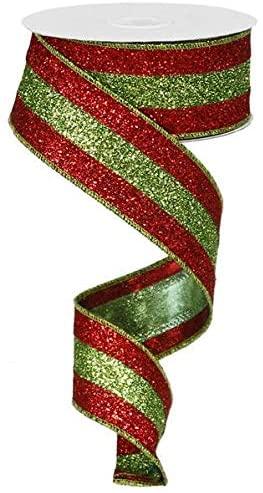 Glitter 3 in 1 Wired Edge Ribbon, 1.5