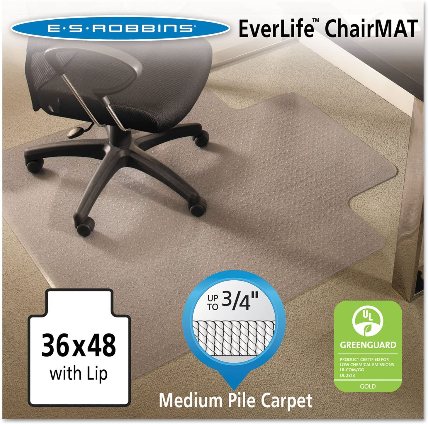 ES Robbins Ever Life Chairmat with Lip
