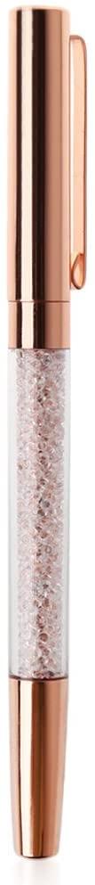 7haofang Luxury Diamond Metal Ballpoint Crystal Gold Metal Pen for Office Supplies Gift