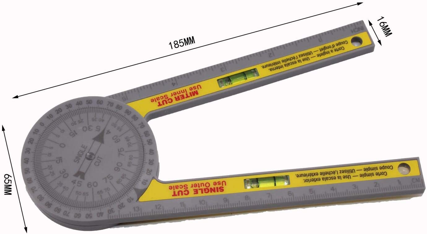 360 Degree Digital Protractor Angle Ruler Miter Saw Protractor High Precision Goniometer Gauge Goniometer for Bevel, Table Saw, Miter Saw Measurements and Leveling