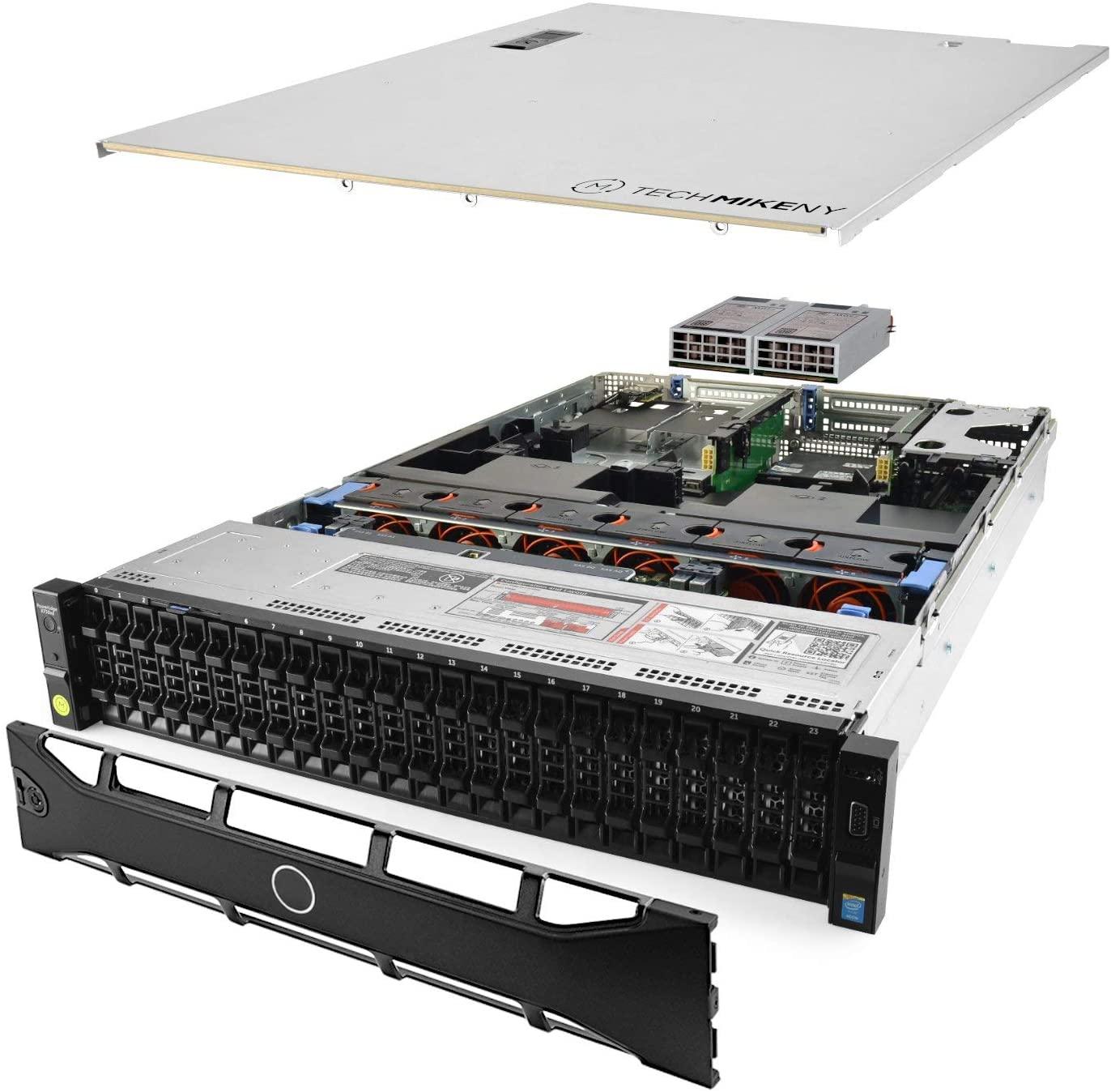 TechMikeNY Server 2X E5-2640v3 2.60Ghz 16-Core 128GB H730P PowerEdge R730xd (Renewed)
