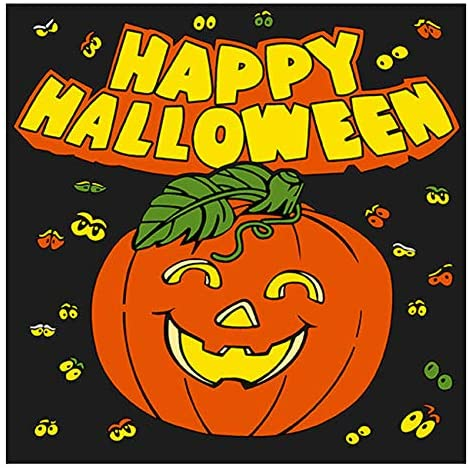 Dining Collection Halloween Lunch Size Napkins Happy Halloween Pumpkin - 20 Count