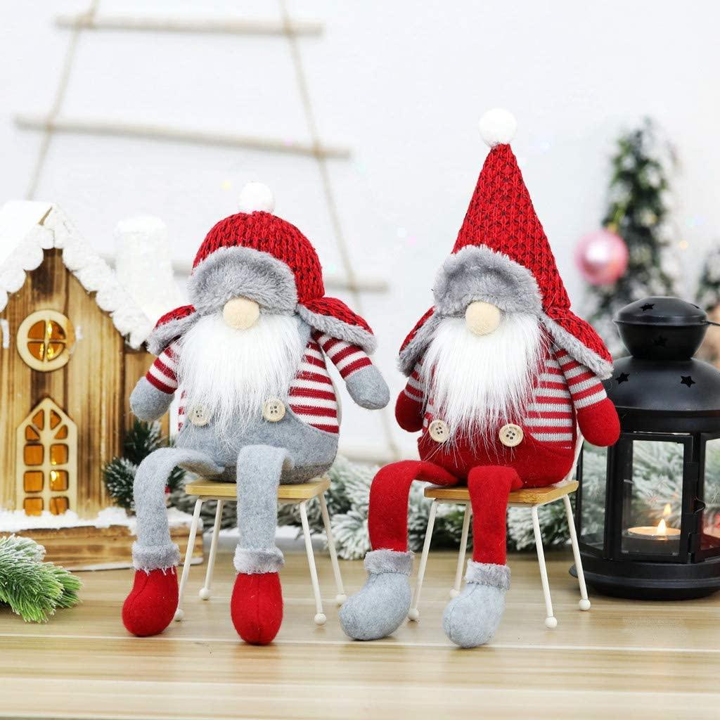 WEI DA f Christmas Faceless Gnome Santa, Xmas Tree Hanging Ornament Doll Decoration, Xmas Decorations Tree Balls for Holiday Wedding Party Decoration, Xmas Tree Ornaments, Elf Hanging Home Decor (B)