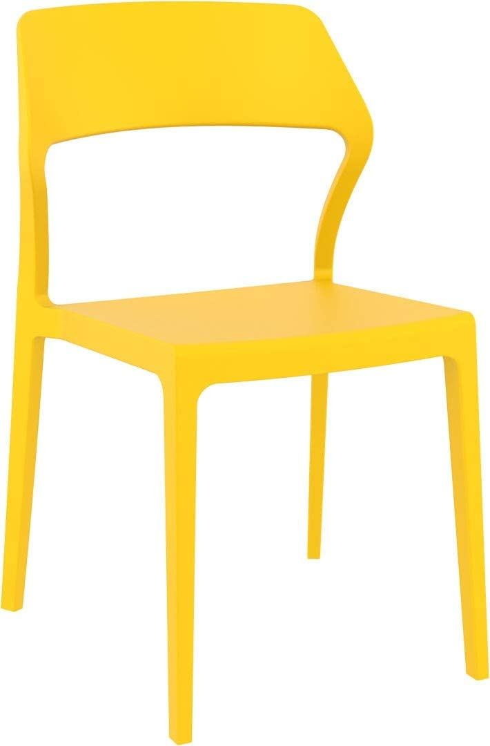 Compamia Snow Patio Dining Chair in Yellow, Commercial Grade