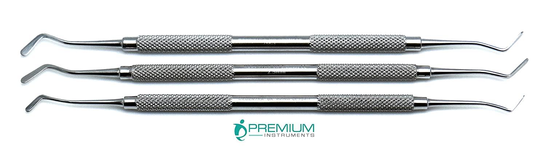 3 Pcs Superior Dental Plastic Filling 2mm, 2.5mm, 2.9mm Root Canal Plugger Restorative Instrument