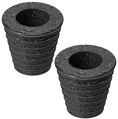 guangfan 2 Pack Umbrella Pole Wedge Fits 1.5 Inch/38mm Umbrella or Smaller,Umbrella Cone for Patio Table Hole Opening Base or Parasol Base Stand 1.94 to 2.7 Inch (Black)