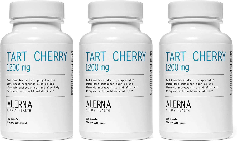 Tart Cherry 1200 mg (100 Vegetarian Capsules, Tart Cherry Extract) (3 Bottles)