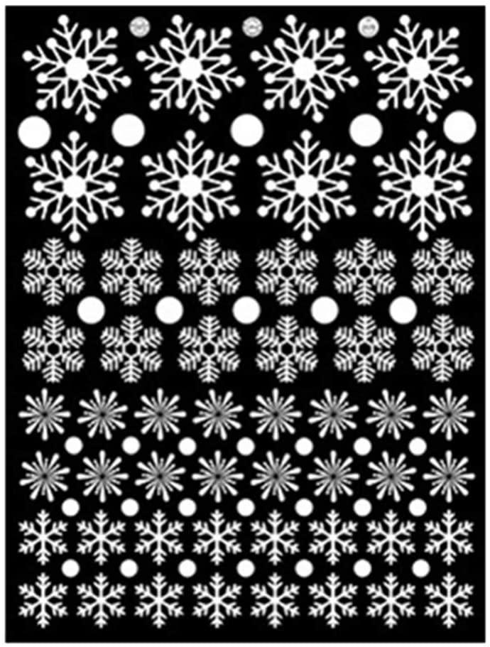 BESTOYARD Christmas Window Stickers Snowflake Window Clings Decal Wall Stickers (White)