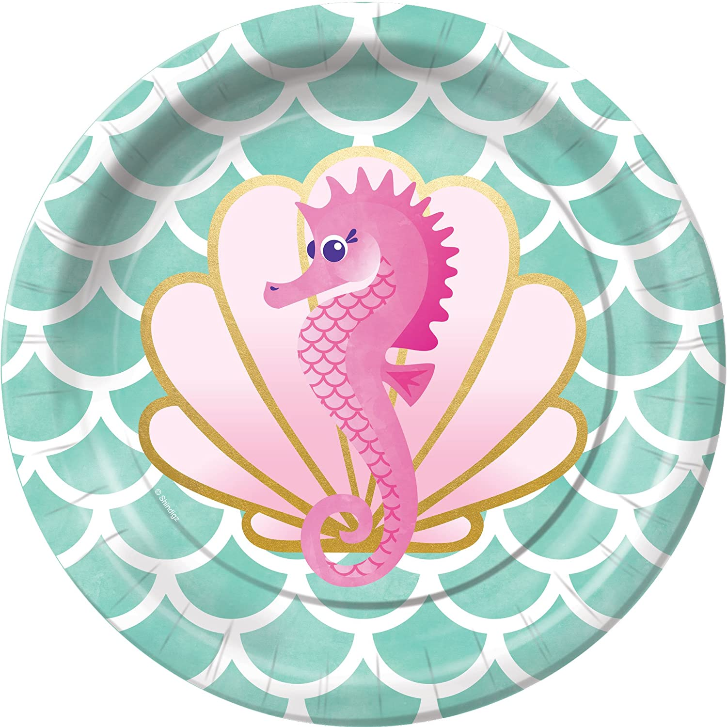 Mermaids Waves and Wishes Dessert Plates Party Tableware Supplies Decorations