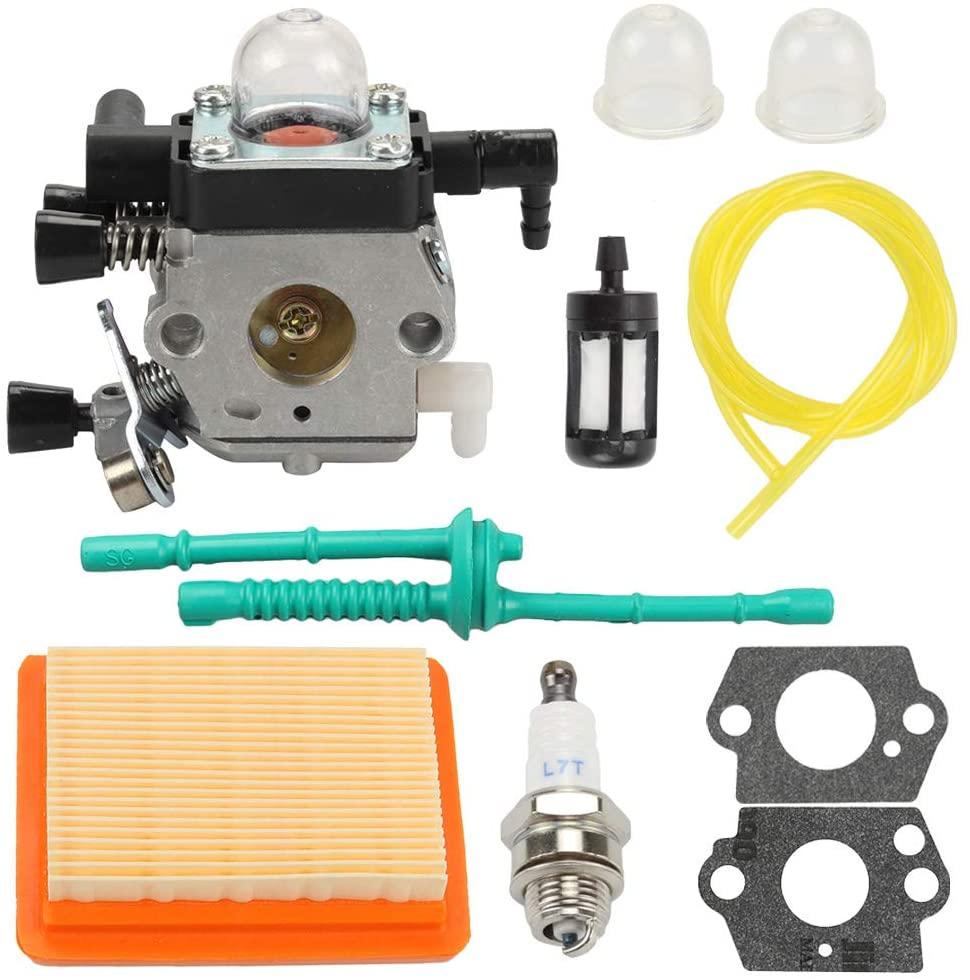Hayskill Carburetor Carb with Air Filter Fuel Line Tune Up Kit for STIHL MM55 MM55C Zama C1Q-S202A Carb Replaces 4601-120-0600