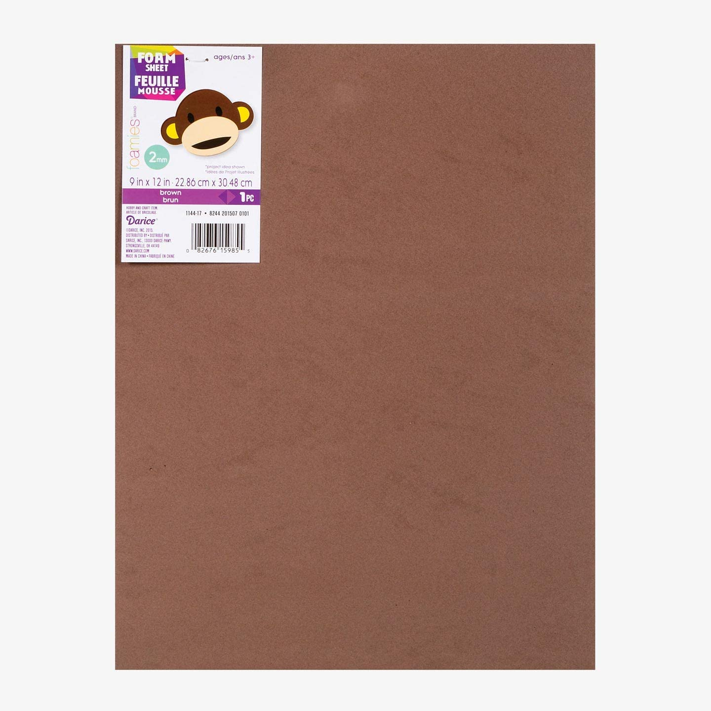 Darice Foamies Foam Sheet Brown 2mm Thick 9 x 12 inches (10-Pack) 1144-17