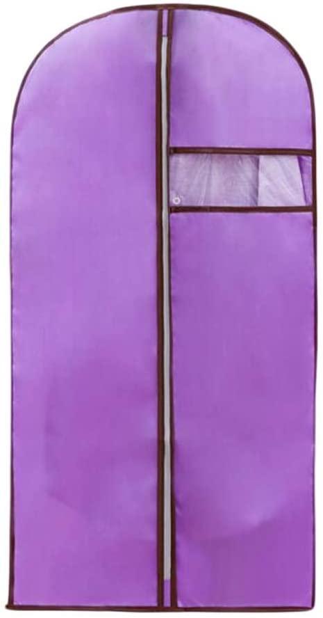 PANDA SUPERSTORE Set of 2 Garment Suit Clothes Covers Bags Dustproof Storage Zipper Bags Purple