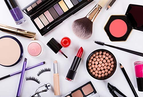 Yeele 7x5ft Make Up Backdrop Cosmetics Fashion Beauty Blogger Background for Photography Blush Brush Lip Sticks Nail Polish Wood Board Pop Woman Girl Photo Video Shoot Vinyl Studio Prop