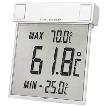 Digi-Sense Traceable Big-Digit See-Thru Digital Thermometer with Calibration; Celsius